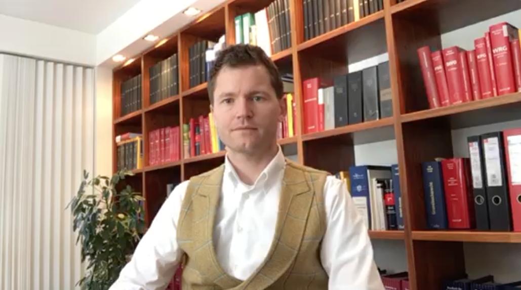 Screenshot Video Rechtsschutz gegen Quarantäne-Bescheid
